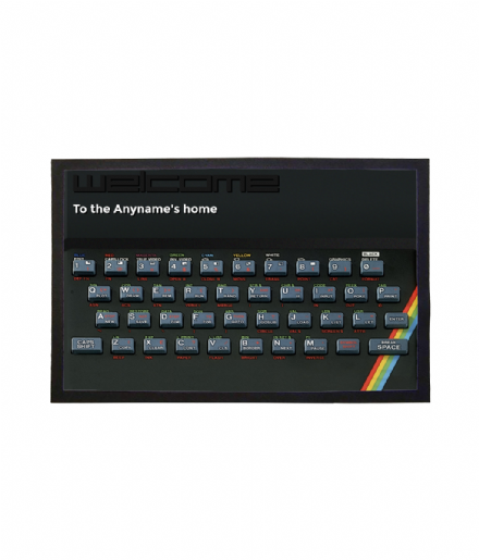 Sinclair ZX Spectrum Doormat Family Name Personalised Welcome Mat